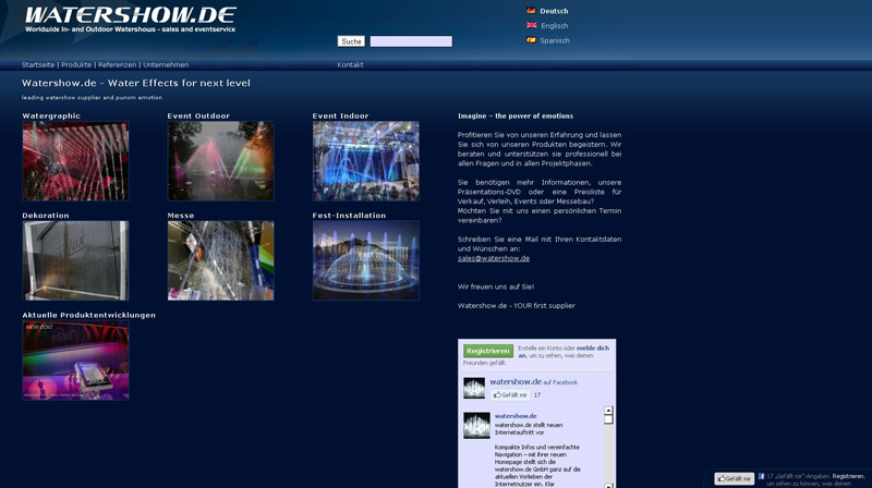 www.watershow.de Website